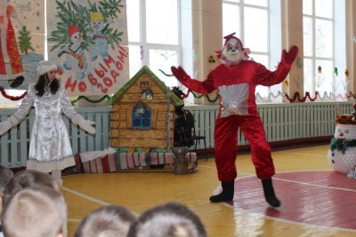 Дед Мороз превратился в Телепузика!